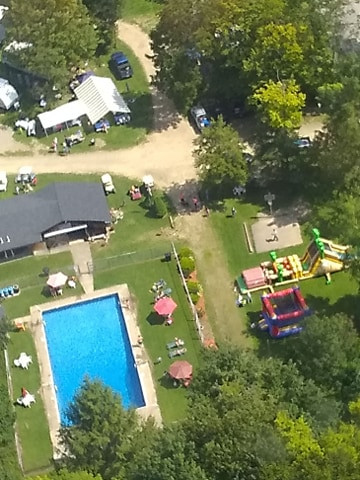 Higby's Campground at Candohta Lake PA from the sky!