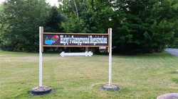 camp directional sign 2