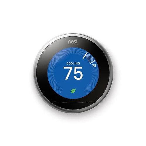 Nest Thermostat, 3rd Gen, Steel