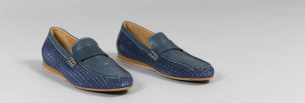 Italian Loafers In Blue