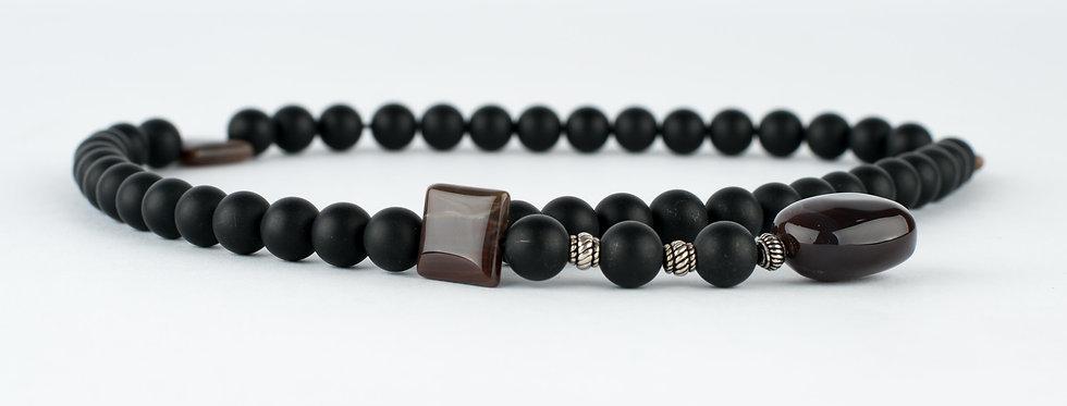 Matt Black Gemstone Beads