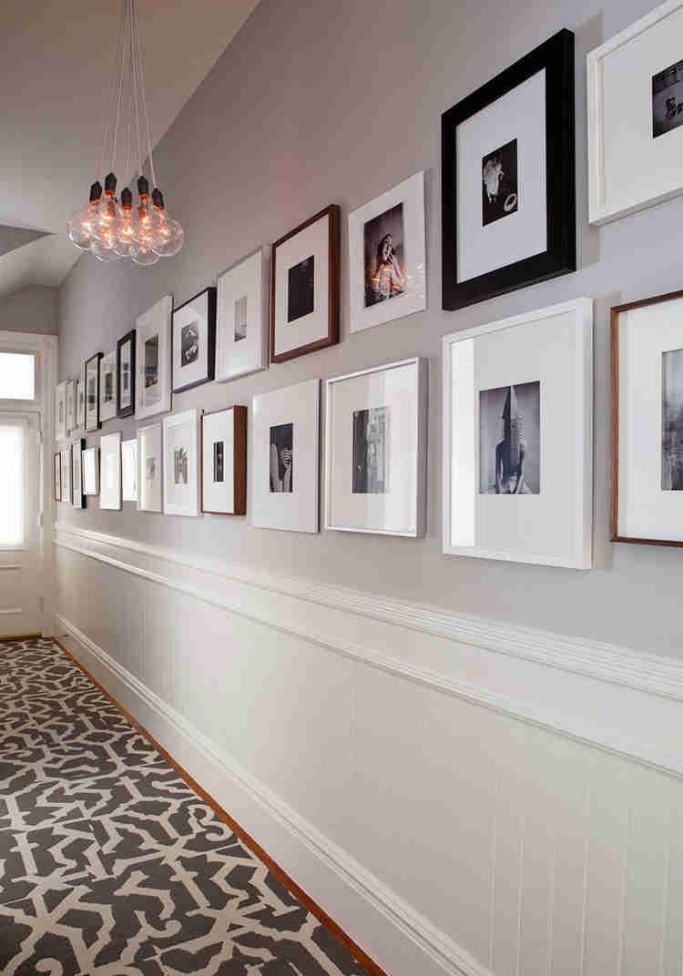Adorable-Wall-Art-Studded-along-Capp-Street-Home-Hallway-Wall-Displaying-Framed-