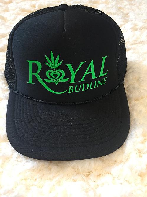 RB Black Trucker Hat / Green Logo