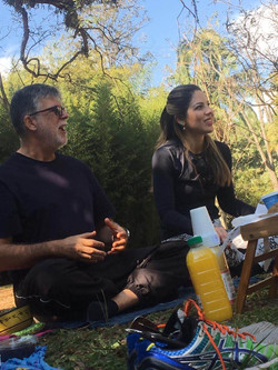 Meditaparque eu e Mariane
