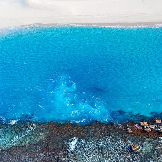 Blue Ocean, Beach and Reef, South Western Australia.