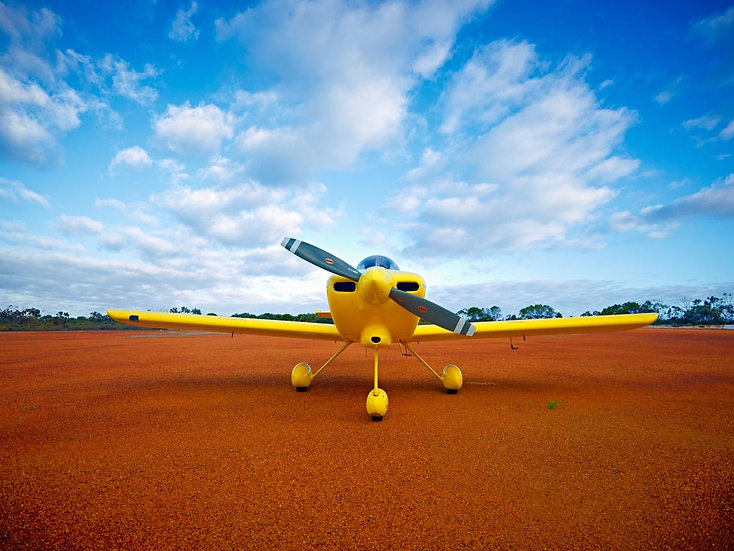 Yellow Aeroplane, single prop.