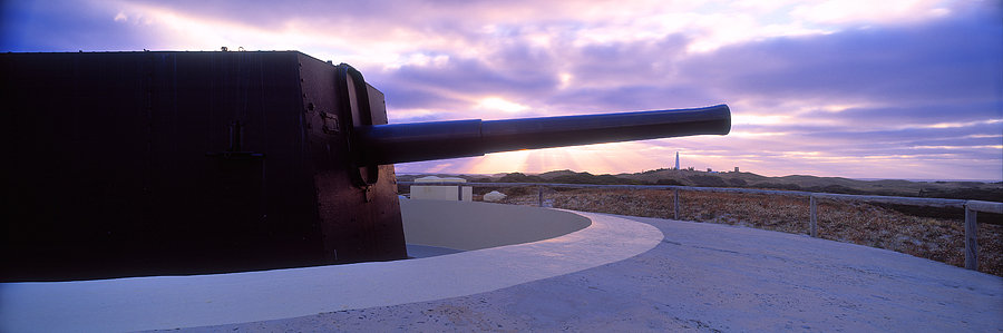 Oliver Hill Battery, WW2 cannon, Rottnest Island, Western Australia