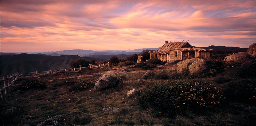 Craigs Hut in the High Country of Victoria, Australia