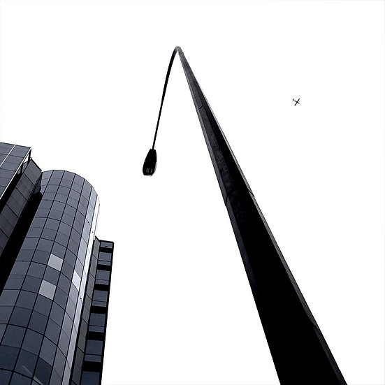 Contrast of Size in the City Sky, Perth Western Australia