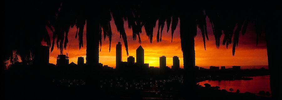Silhouette of Perth City, Western Australia