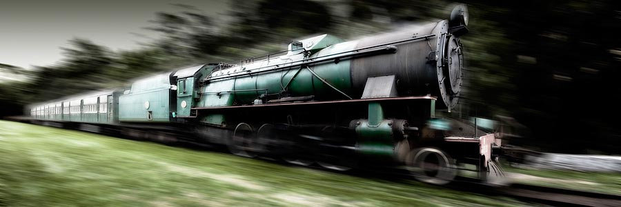 Green Steam Train