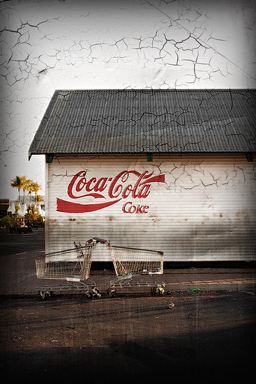 Coca-Cola and shopping trolley