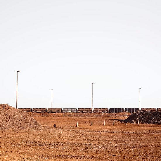 Pilbara Rail Yard, Iron Ore Train, Port Hedland, North Western Australia