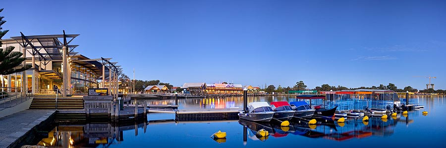 Boats and Jetty, Mandjar Bay, Mandurah, Western Australia