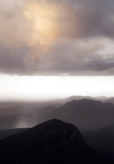 Storm Clouds and Rain, Stirling Ranges. South Western Australia,