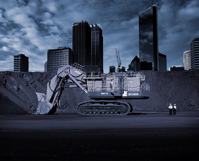 Melbourne City, Construction Site, Digger, Excavator