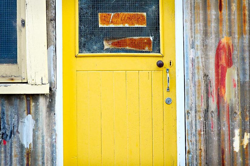 Yellow Shack Door