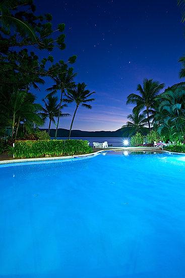 Resort swimming pool, Daydream Island, Queensland, Australia