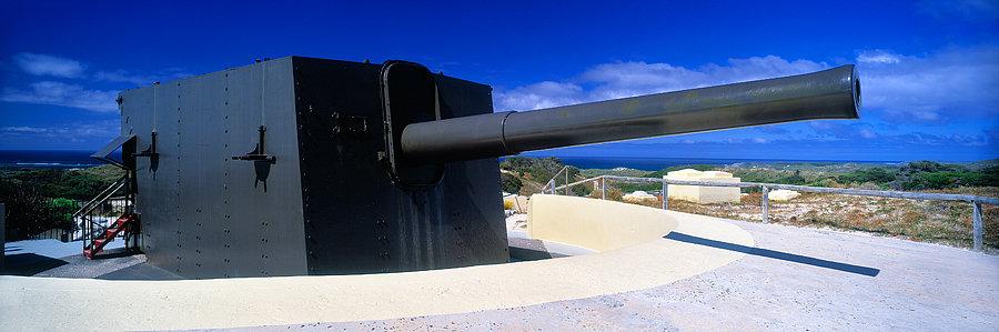 Oliver Hill Battery, WW2 cannon, Rottnest Island, Western Australia