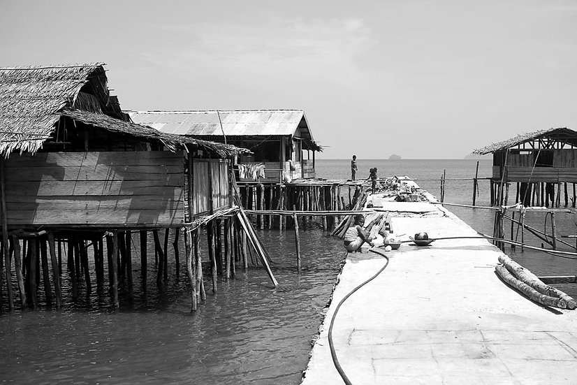 Stilt Houses and Jetty, West Papua