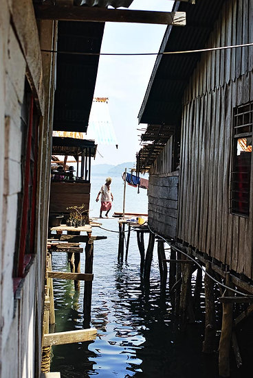 West Papua New Guinea, Over the Water Stilt Houses