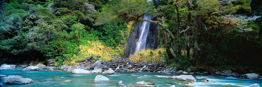 Rivers and Waterfalls of the South Island, New Zealand