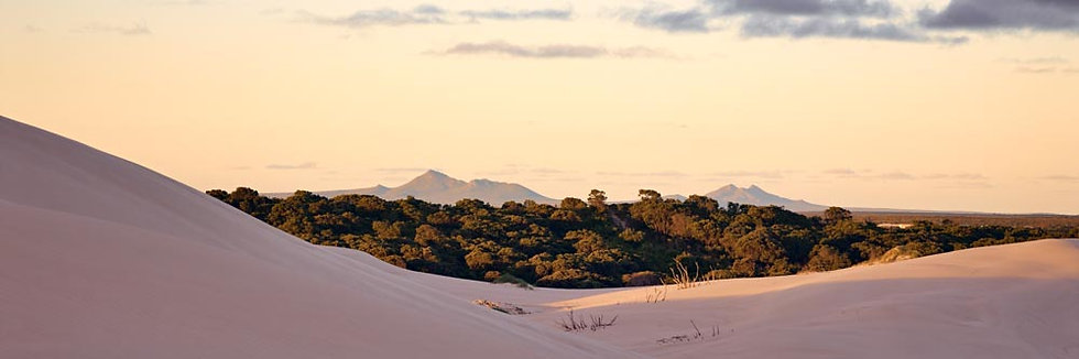 Sand Dunes and Mountain Ranges, South Western Australia.