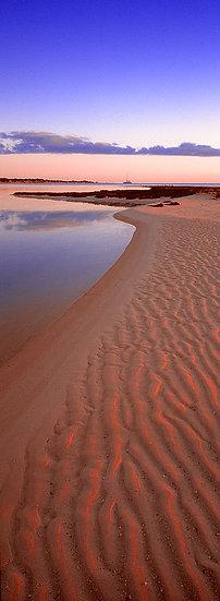 Beach at sunset, Monkey Mia, North Western Australia