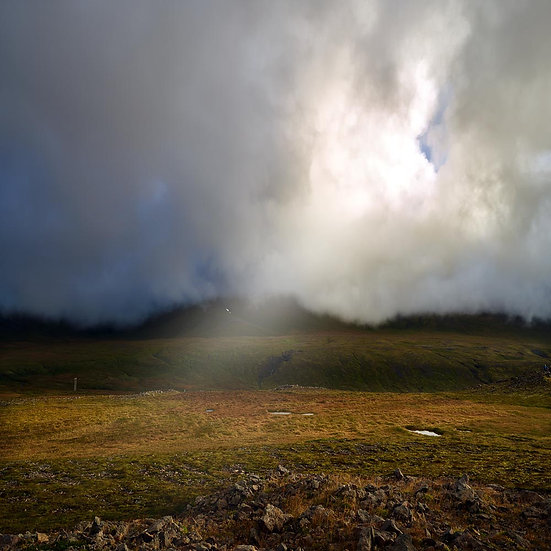 Storm and sun rays, Iceland