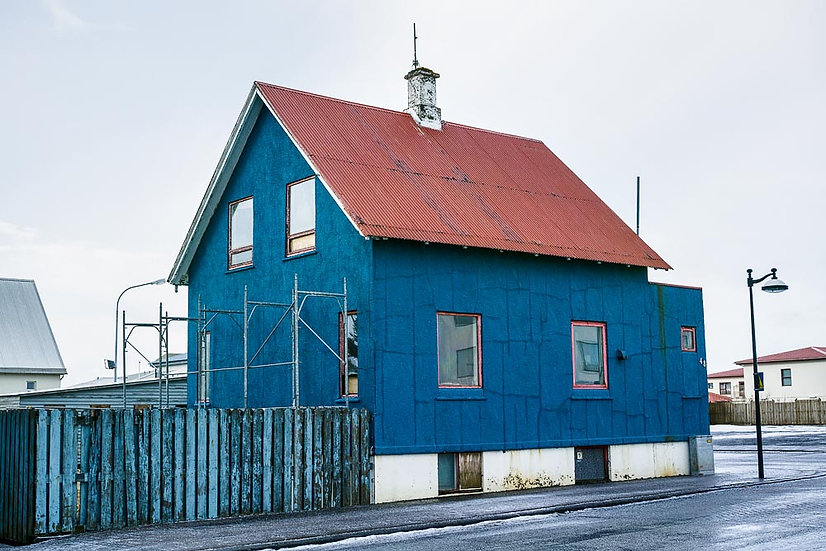 Colourful building of Iceland