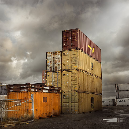 Shipping containers at the Fremantle Port, Perth, Western Australia