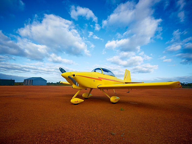 Yellow Aeroplane, single prop.