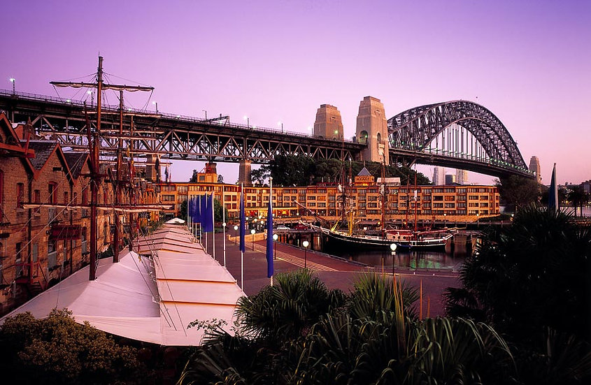 Circular Quay and Sydney Harbour Bridge, NSW, Australia