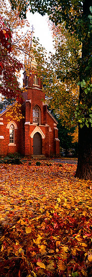 Church in autumn, Bright, Victoria