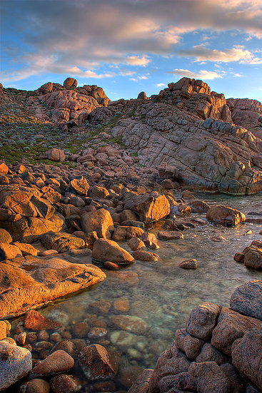 Granite rocks at Smith Point, Yallingup, South Western Australia