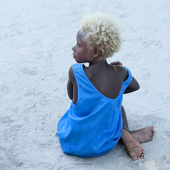 Papua New Guinea child on the beach
