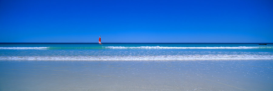 Sailing Boat, Cable Beach, Broome, Kimberley, North Western Australia