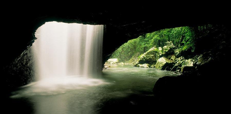 Natural Arch, Springbrook National Park, Gold Coast,  Queensland, Australia