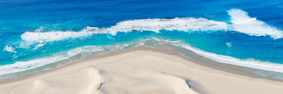 Blue Waters and white sands of South Western Australia.