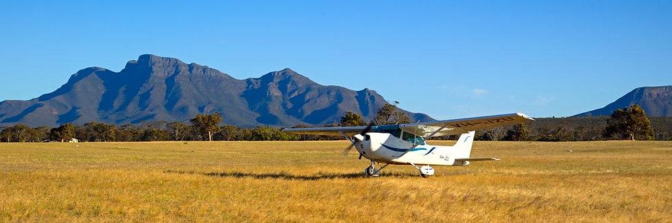 Cessna Aeroplane, Stirling Ranges. South Western Australia,