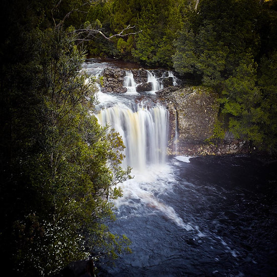 River and Waterfall in Tasmania