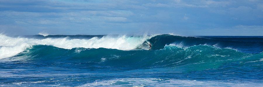 Three Bears Surf Break and surfer, South Western Australia