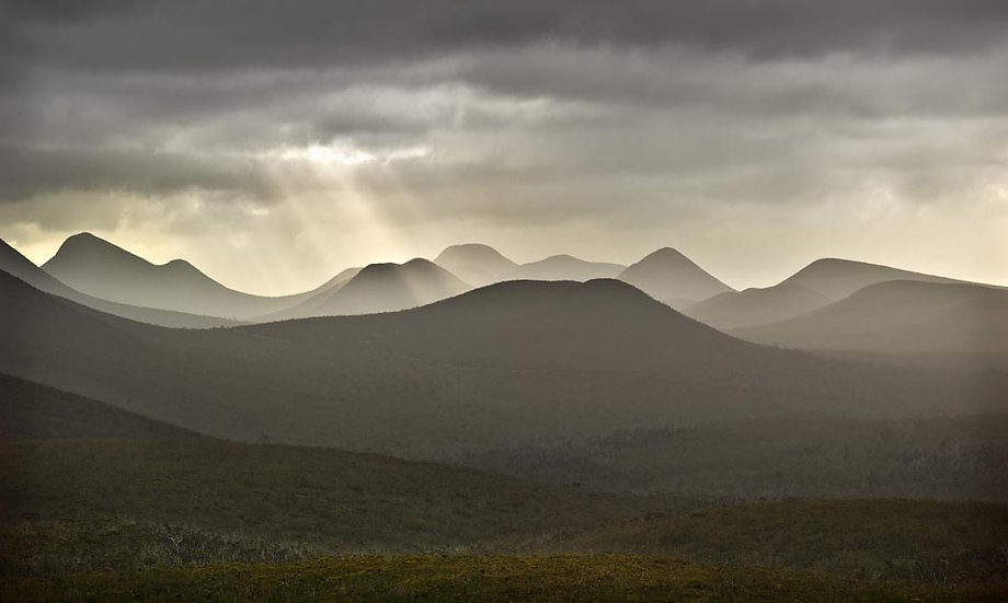 Morning fog over the Stirling Ranges, Great Southern, Western Australia