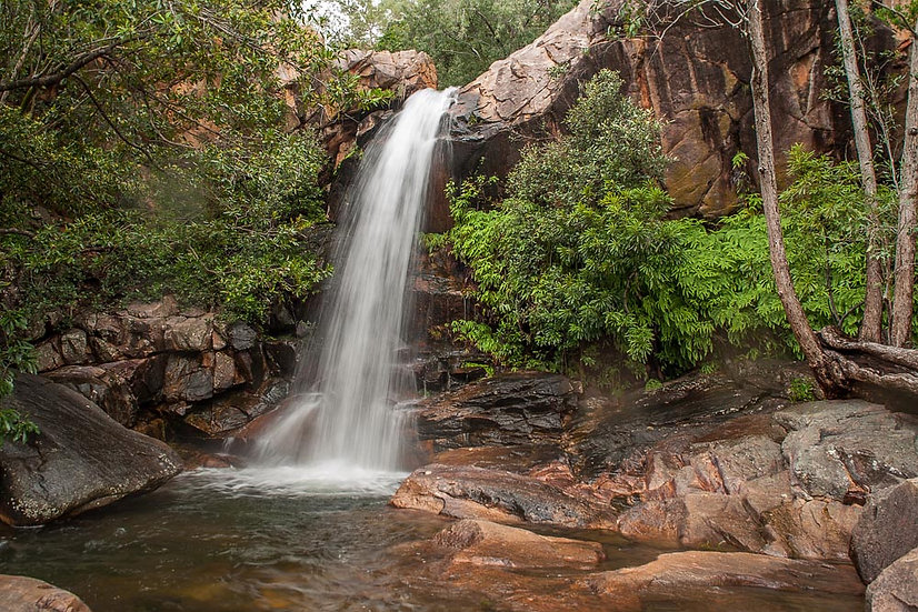 Waterfall at Boulder Creek, Kakadu National Park, Northern Territory Australia