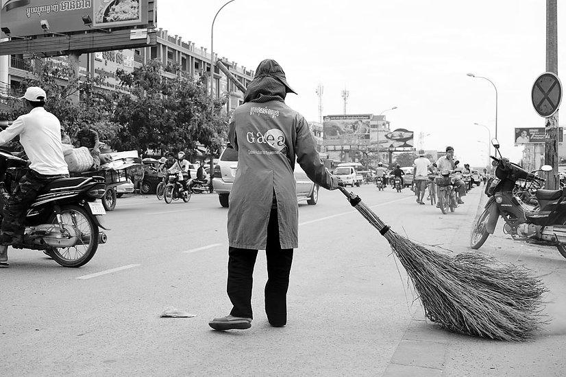 Street Sweeper, Siem Reap, Cambodia
