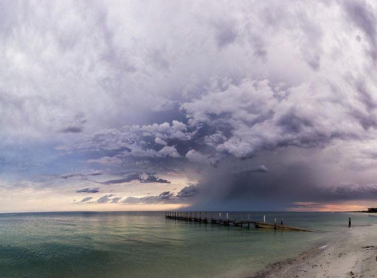 Storm clouds over Quindalup Jetty, Dunsborough, South Western Australia