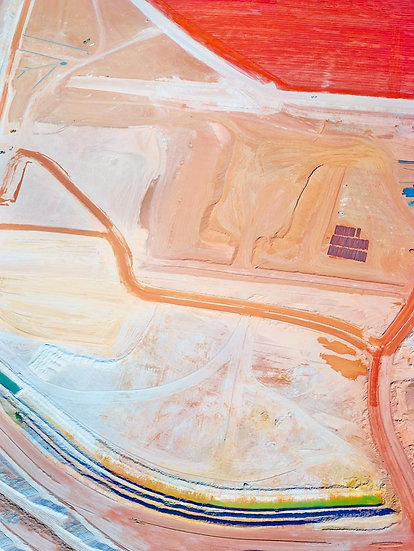 Bauxite Mine, Aerial Patterns, Collie, South Western Australia