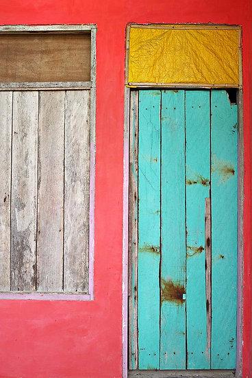 Wooden Door, West Papua New Guinea