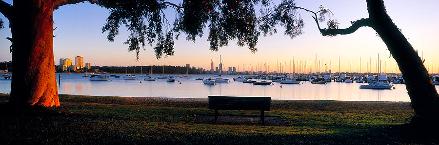 Yacht Club, Swan River  Perth City, Western Australia