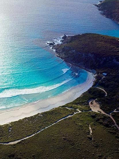 Blue Ocean Water and Beach Coastline, South Western Australia.